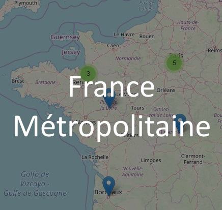 Carte de la France Métropolitaine